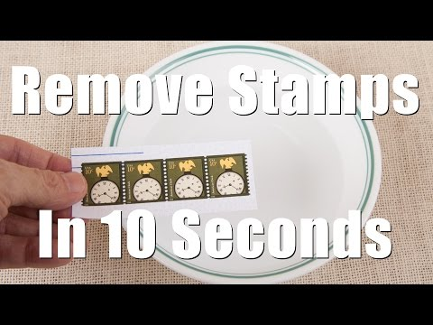 Remove Postage Stamps From Envelops in 10 Seconds