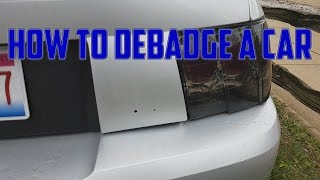 How to Debadge your Car