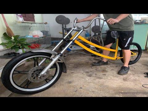 Design and build sport bicycle weird restore | Suzuki GN125 old scrap Restoration thumbnail
