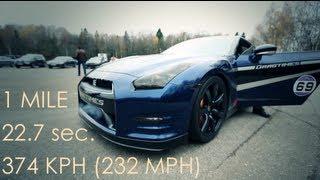 Nissan GT-R AMS Alpha 12+: 374 kph (232 mph), 0-300 kph @ 12.8 sec.