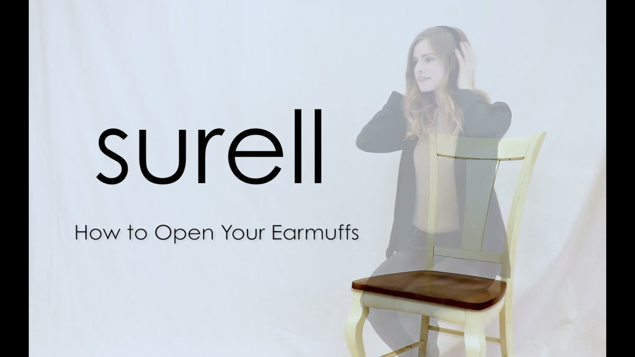 How to Open Your Surell Earmuffs