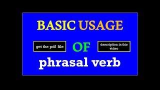 Spoken English  | learn english || speak English || phrasal verbs in English