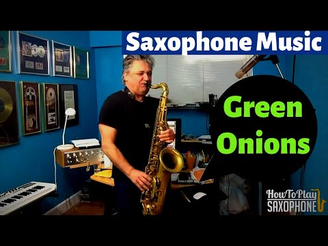 Green Onions Saxophone Music and Backing Track Download