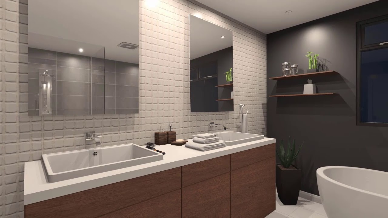 2020 Fusion v6: See the rendering speed in this bathroom ...
