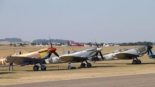 Duxford Flying Legends Air Show England 2018 -  Eleven Spitfires!