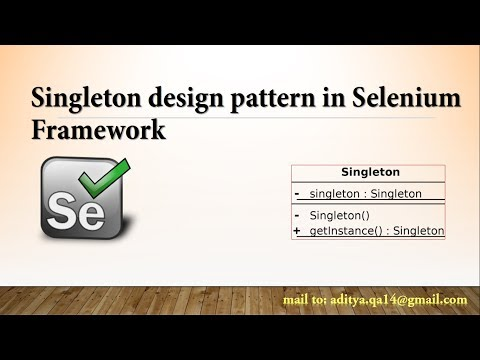 Singleton design pattern in Selenium Webdriver