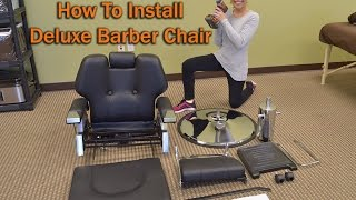 Deluxe Barber Chairs For Sale - Hydraulic Barber Chair Unboxing and Install
