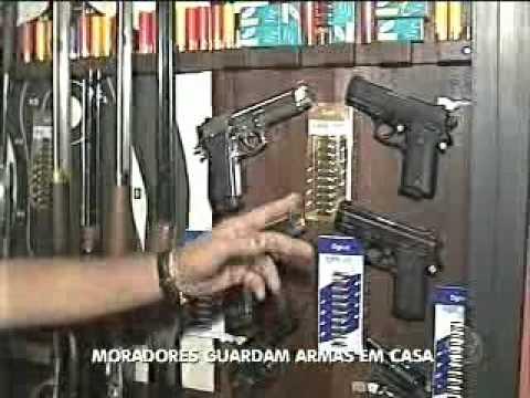 Cerca de dois mil moradores de Botucatu têm arma de fogo - YouTube