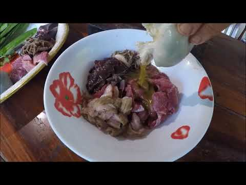 How to cook raw beef Laos Food 2017