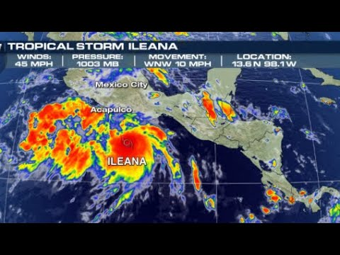 Tropical Storm Ileana Depression INTENSIFIES to tropical storm on route to Mexico