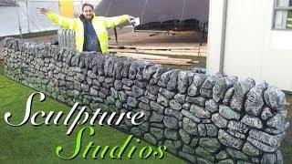 Polystyrene / Styrofoam Stone Wall by Sculpture Studios