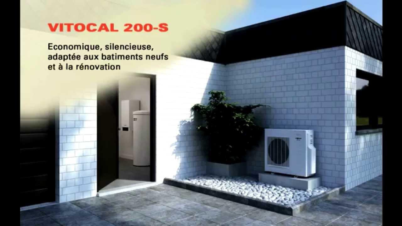 vitocal 200 s pompe chaleur air eau viessmann youtube. Black Bedroom Furniture Sets. Home Design Ideas