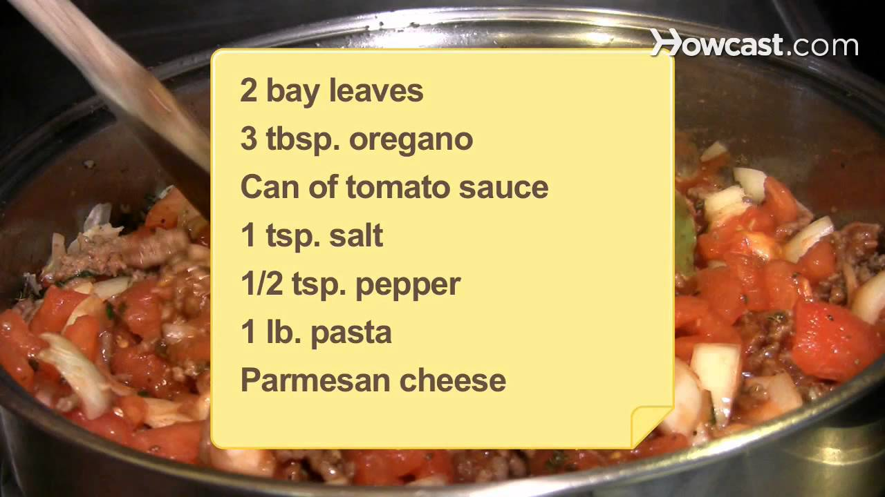 How To Make Spaghetti Sauce Youtube