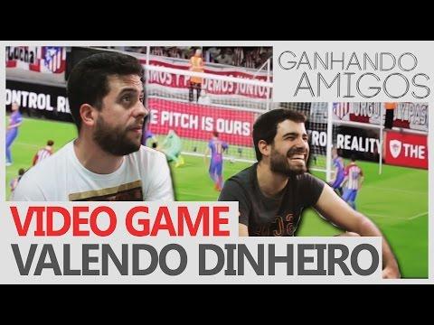 GANHANDO AMIGOS #05 - PES 2017 VALENDO DINHEIRO (Joinville, SC)