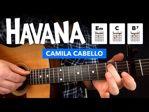 "🎸 ""Havana"" easy guitar lesson w/ chords + fingerstyle tabs"