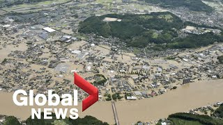 Heavy flooding in Japan leaves at least 18 dead