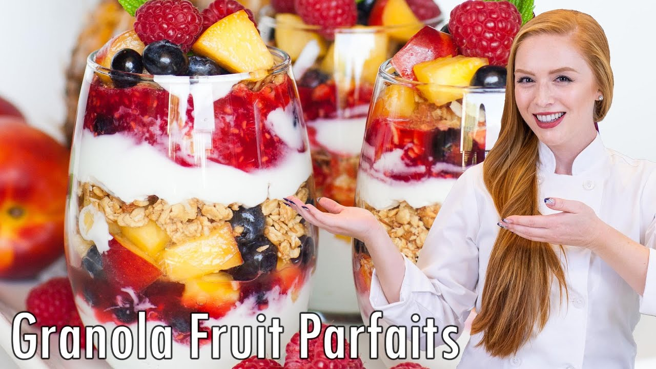 red fruits fruit parfait