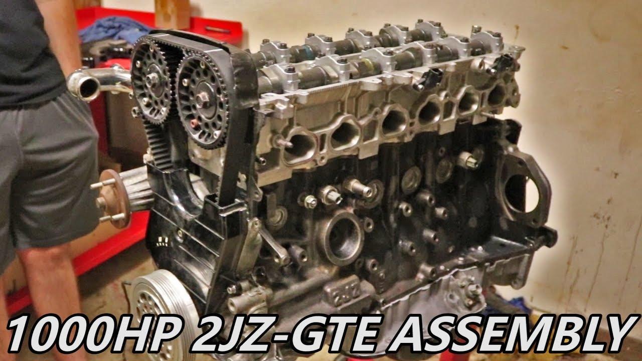 1000+ HP 2JZ Supra Engine Assembly - Supra Build Ep 2