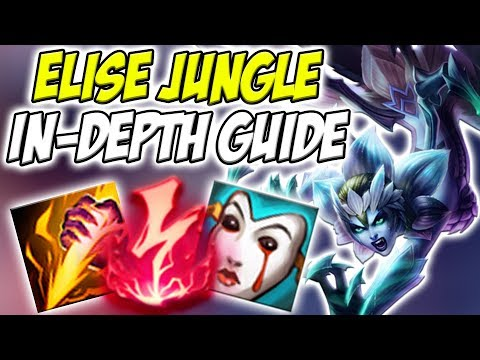 GUIDE ON HOW TO PLAY ELISE JUNGLE IN SEASON 8! THE BEST GANKER IN THE GAME! - League of Legends