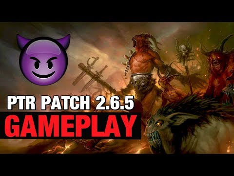 Diablo 3 PTR Patch 2.6.5 Gameplay LON Builds Crusader Barbarian Witch Doctor