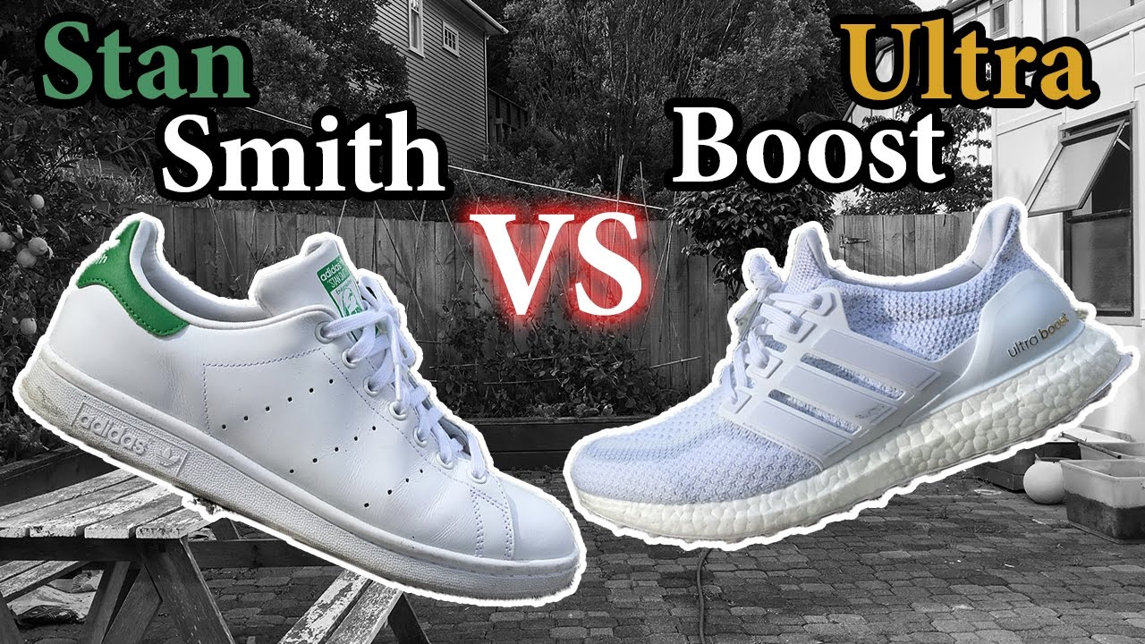 90df4e93b2b52 Stan Smith Boost VS the Adidas Ultra Boost 3.0 Comparison YouTube