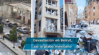 El cantante mexicano Ruén Roguez, quien vive en Beirut, afirma que tras las explosiones, Líbano no se va a reconstruir si no es con la ayuda externa y el apoyo urge