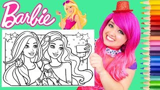 Coloring Barbie & Friend Coloring Book Page Prismacolor Colored Pencil | KiMMi THE CLOWN