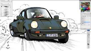 Pau- How to draw a Porsche 911 turbo (930)