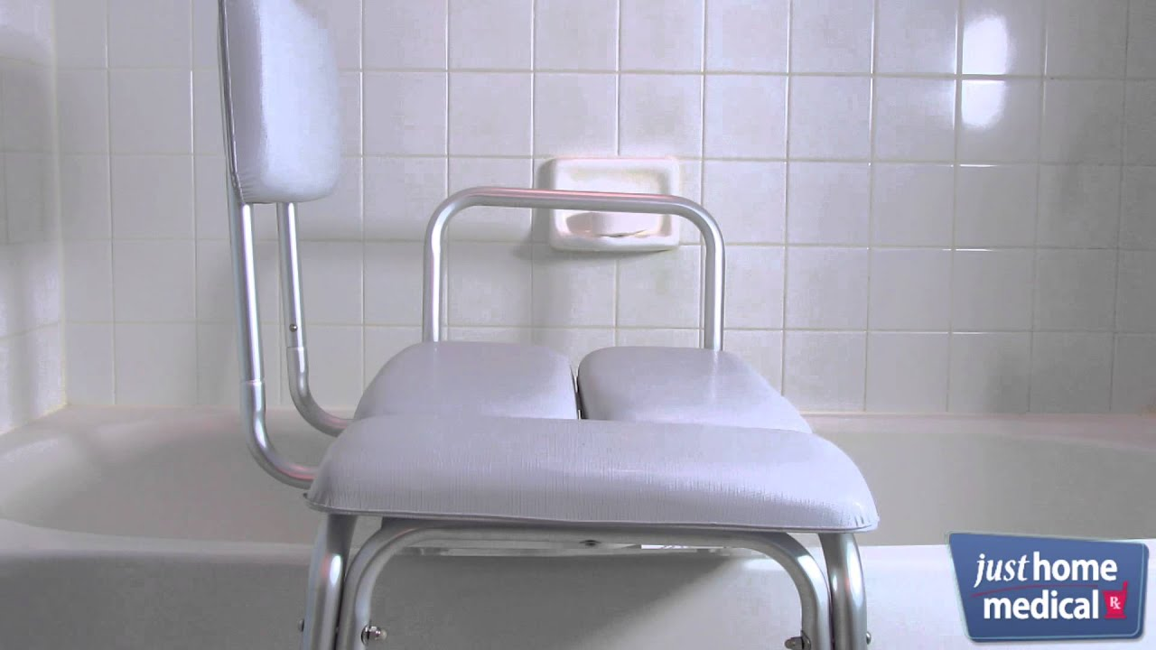 Just Home Medical: Drive Padded Seat Transfer Bench - YouTube