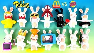 McDONALD'S RABBIDS HAPPY MEAL TOYS VS BURGER KING RABBIDS INVASION KID UBISOFT RAYMAN RAVING RABBITS