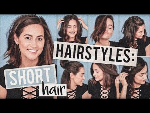 Heatless Hairstyles For Short Hair Tutorial!