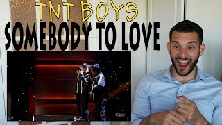 VOCAL COACH reacts to TNT BOYS singing SOMEBODY TO LOVE!