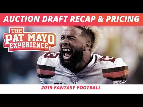 2019 Fantasy Football Rankings — Auction Draft Recap And Pricing