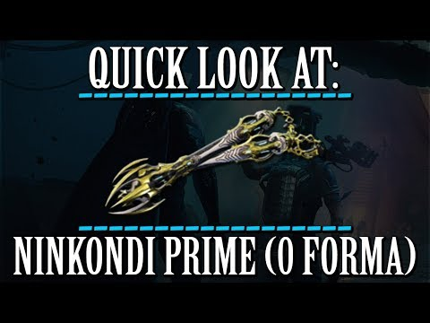 Warframe - Quick Look At: Ninkondi Prime (0 Forma)
