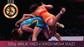 BRONZE WW - 62 kg: S. MALIK (IND) v. A. KASSYMOVA (KAZ)