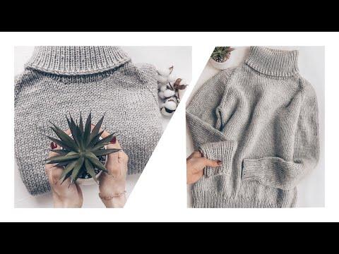 Связать свитер женский спицами с горлом
