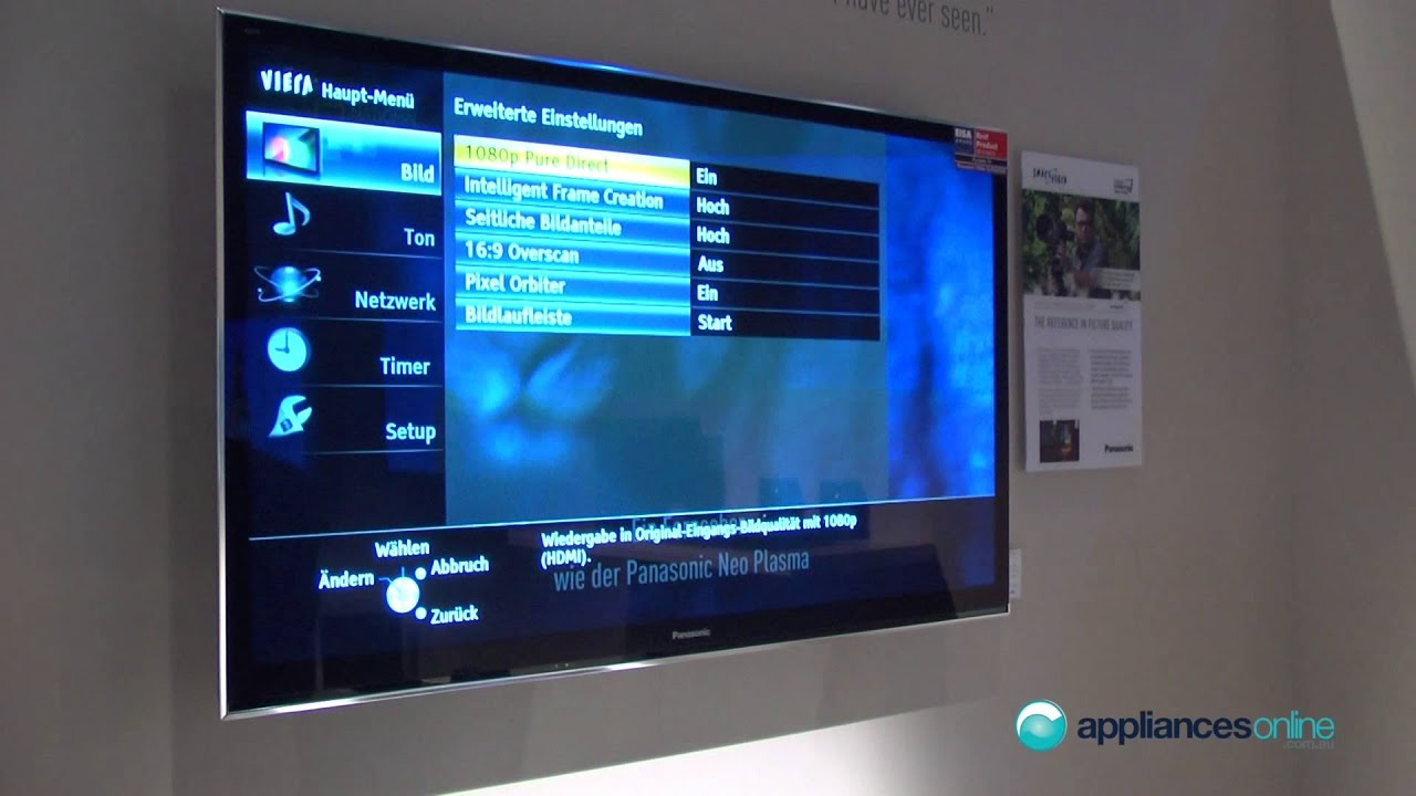 Experts Endorse Panasonic Plasma Vt50 Tv Series With Dual