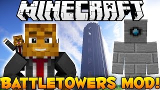 Minecraft EPIC Battle Towers Mod - More Dungeons + Random Loot - Mod Showcase
