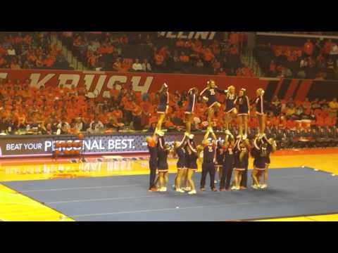 Illinois cheerleading team