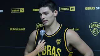 Francisco Barbotti Post partido Obras Basket 73 - Boca Juniors 64 (01-03-2019)