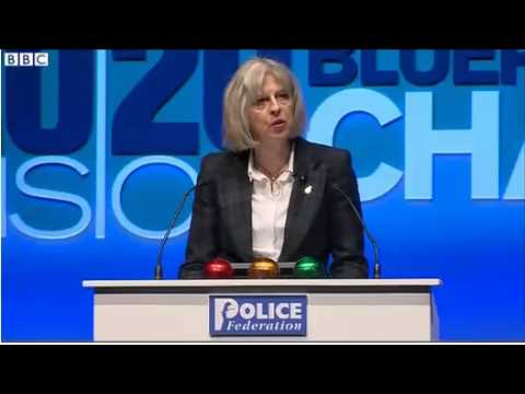 Home Secretary reads Police the riot act