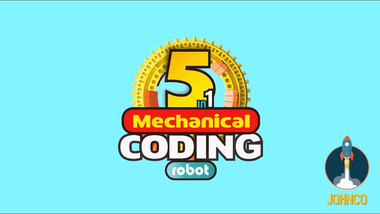 Johnco 5 in 1 Mechanical Coding Robot