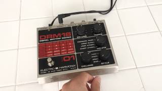 VINTAGE ELECTRO HARMONIX DRM16 DIGITAL RHYTHM MATRIX DRUM MACHINE