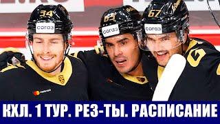 Хоккей КХЛ 2021 2022 1 тур Результаты всех матчей Расписание второго тура