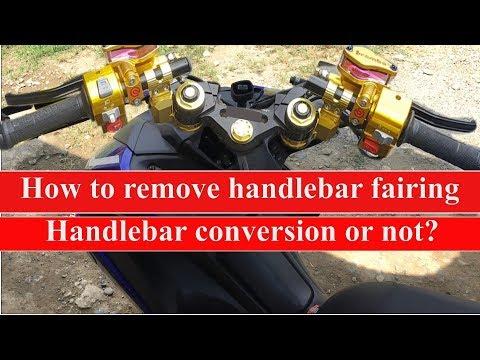 Yamaha aerox handlebar cover removal