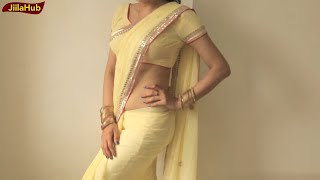 How To Wear Sari To Look Hot:DIY Perfect Saree Drape Step By Step Classes(JiilaHub)
