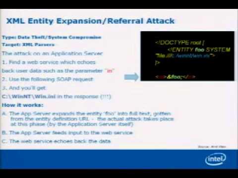 DEF CON 15 - Steve Orrin - The SOA XML Threat Model
