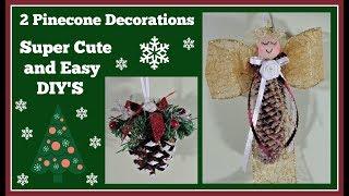 2 DIY Pinecone🎄 Decorations Super🎄 Easy Gift Idea