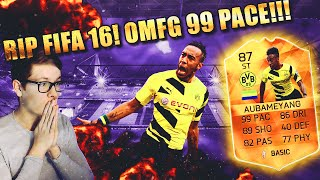 FIFA 16: AUBAMEYANG MOTM (DEUTSCH) - RIP FIFA 16 ULTIMATE TEAM [HOLY SHIT 99 PACE!!!]
