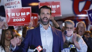 video: Republican divide deepens as Donald Trump Jr calls for 'fight to the death' over US election